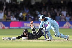 The World Cup Final came down to this run-out by Jos Buttler