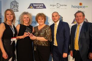 The Hospice in your Care Home team receiving their Towergate Award