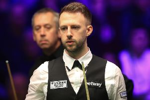 GONE: Judd Trump in his match with Nigel Bond at the Betway UK Championship at the York Barbican. Picture: Mike Egerton/PA