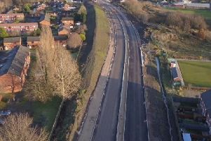 The camera has its back to the A49 Warrington Road at Goose Green looking towards Poolstock