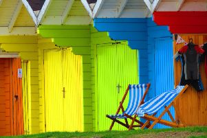 Beach chalets in Scarborough.