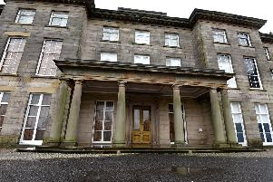 Haigh Hall, all boarded up this week