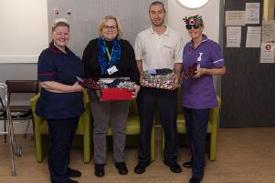 Sonya Moss, Dr Christina Heaton, Rob Clucas and Karen Ashcroft promote #SafeSlippers