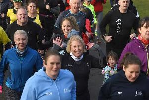 Record numbers of people turned out for parkrun through Haigh Woodlands on New Years Day