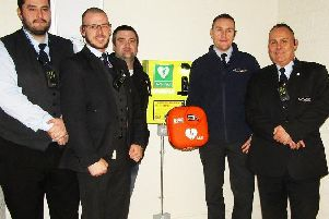 Security staff Martyn Hoare, Paul Pritchard, Derek Washington, Alex Wilkins and Colin Marshall
