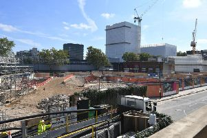 The construction site for the HS2 high speed rail scheme in Euston, London