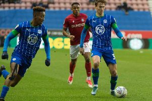 Kieran Dowell on his home debut for Latics