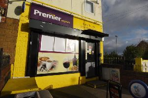 The Premier Express shop on Sandy Lane, Hindley where the  robbery happened