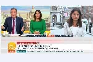 Lisa Nandy appeared on Good Morning Britain