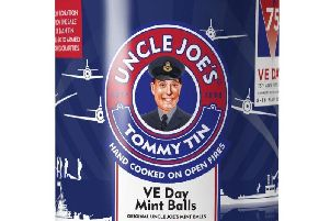 The commemorative Uncle Joe's tin