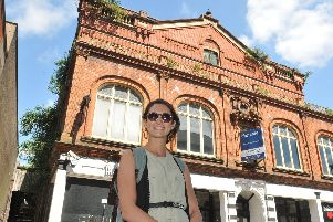 Jess Rotherham outside the Royal Court Theatre in King Street
