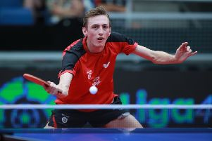 Liam Pitchford in action at the European Championships in Spain. (PHOTO BY: Remy Gros)