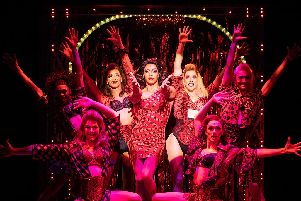 Callum Francis as Lola in Kinky Boots