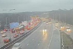 Congestion is building with long delays expected on the M6 northbound near Knutsford.