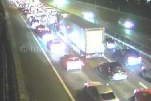The queues on the M6 this evening