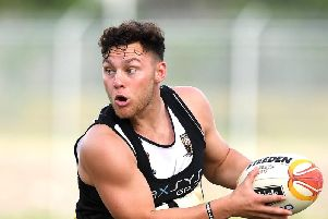 Lachlan Lam in a PNG training session