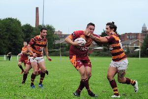 Wigan St Judes' in action. Photo: Brian King