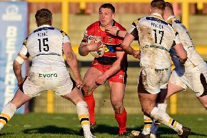 Chris Annakin featured for Dewsbury against York having joined the Rams on a one-month deal from Wakefield Trinity.