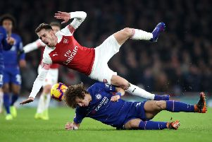 Aaron Ramsey in action for Arsenal against Juventus earlier this season