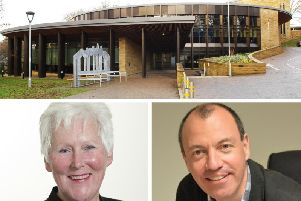 Liberal Democrat leader Pat Marsh and council leader Richard Cooper took part in a heated debate as Harrogate Borough Council agreed its next budget.