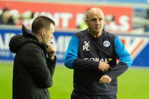 Paul Cook during the 0-0 draw against Stoke