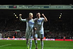 IN SYNC: Gjanni Alioski and Jack Harrison.