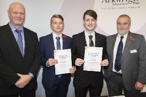 Deputy head boy Nathan Willis (left) is one of two current Deanery students to receive an Arkwright scholarship.