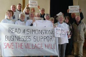 Members of TheRead and SimonstoneVillage Hall Committee, who are hosting fund-raising theatre show Happy Jack.