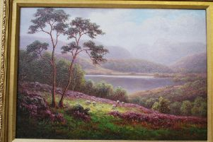 An oil on panel landscape by Everett Watson Mellor