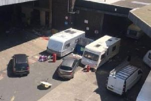 Caravans and vehicles at Thwaites brewery