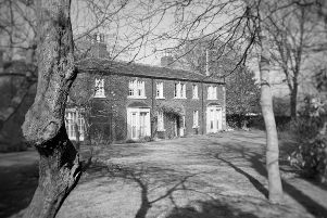 The Red House, Gomersal - Bronte images that are part of the exhibition 'A Bronte Reader' by Helen Burrow at Dean Clough Galleries.''Home of Charlotte's friend Mary Taylor''and 'Briarmains' in Shirley