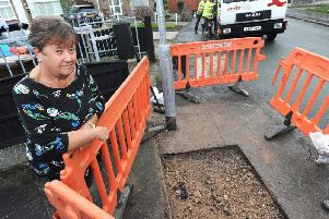 Carol Horrocks is fed up with having the pavement outside her house being repeatedly dug up by workers