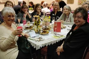 Members of Croston WI celebrate the group's 70th anniversary