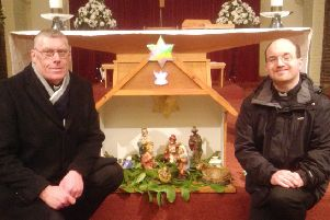 Fr John Swinhoe, left, and Fr David Twomey. Picture by Brian Bennett
