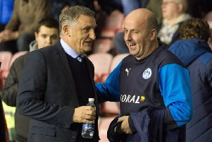 Paul Cook with Tony Mowbray