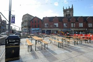 The finishing touches will be added to Market Place next week
