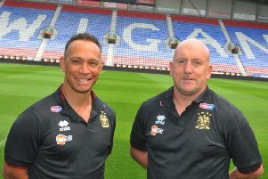 Adrian Lam and Shaun Edwards in August