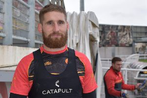 Sam Tomkins in training with his new club
