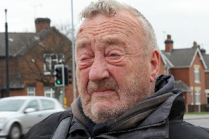 Robert Fillmore fights back tears after he had the offer of a bungalow snatched back by the council.