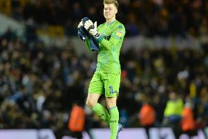 Bailey Peacock-Farrell, who is set to return to the starting line-up for Leeds United against Millwall with Kiko Casilla suspended.
