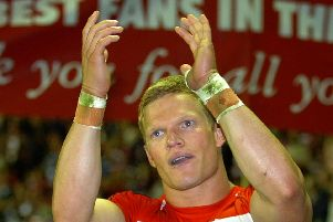 Brett Dallas after his final appearance for Wigan in 2006