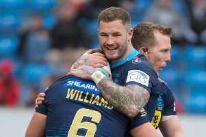 Zak Hardaker with hat-trick hero George Williams