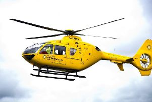 A patient has been airlifted to Wythenshawe Hospital