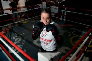 Leeds pro boxer Sam Smith training at her gym in Crossgates (Picture: Jonathan Gawthorpe)