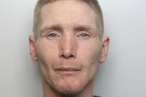 Pictured is Richard Walliss, 35, of Ecclesbourne Close, Water Lane, Wirksworth, Matlock, who was jailed for 26 weeks after a theft and after failing to comply with a suspended sentence imposed for three assaults, damaging a table and breaching a non-molestation order.