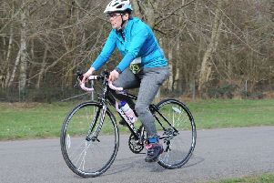One of Bassetlaw Triathlon Club's competitors in action at Clumber Park.