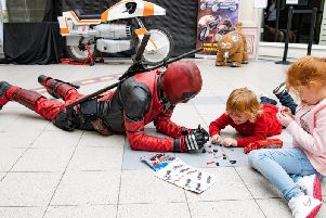 Deadpool meets some young fans