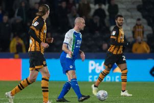 Darron Gibson in action against Hull