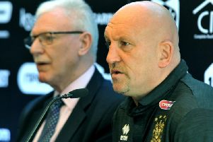 Shaun Edwards with Ian Lenagan in August last year