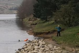 A demonstration of the line being used at Greenbooth Reservoir